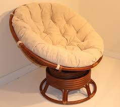 amazon com rattan wicker swivel rocking round papasan chair with