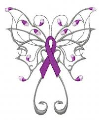 butterfly cancer ribbon drawing hanslodge cliparts