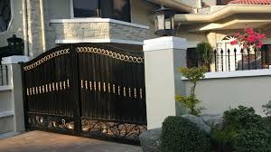 pedestrian steel gate cavitetrail glass railings philippines