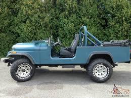 jeep scrambler blue cj 8 scrambler 1983 six seater with manual transmission cj