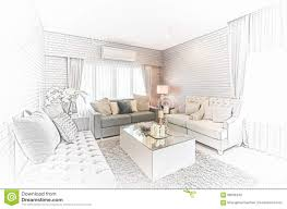 sketch room sketch design of modern living room with modern chair and sofa a