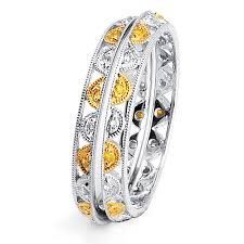 Women Wedding Rings by Yellow And White Diamond Women U0027s Wedding Bands Parade 73