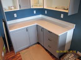 quartz kitchen countertop w bevel edge and custom backsplash