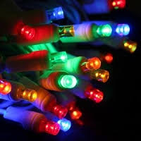 led christmas lights on white wire