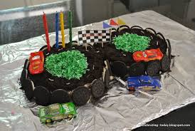 celebrating today race car birthday party