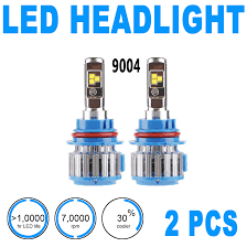 Led Light Bulbs For Headlights by 2pcs Led Headlight Light Bulbs High Beam U0026 Low Beam 6000k 9004