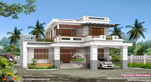2540 sq ft decorative flat roof house kerala home design 2 floor