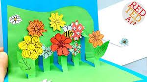 easy pop up flower card diy mother u0027s day card tutorial get