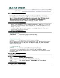 College Student Job Resume by Sample High Student Resume Example Resume Samples High