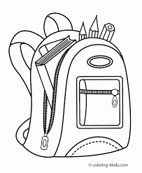 Adult Kids At School Coloring Page Backpack Pages For Subjects Coloring Pages Middle School