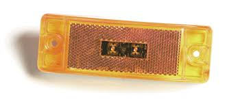 grote 47073 3 yellow led clearance marker light