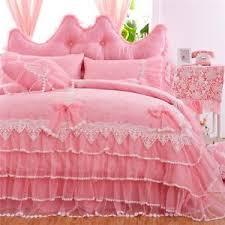 White Ruffle Duvet Girls Bedding Sets White Lace Ruffle Duvet Cover Set Princess Bed