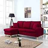 Amazoncom Red Sofas  Couches  Living Room Furniture Home - Red leather living room set