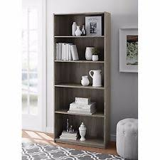 mainstays 5 shelf wood bookcase multiple colors ebay