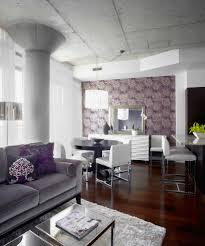 industrial wallpaper rolls with coloful powder room contemporary