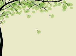 drawing pithy trees left side background powerpoint ppt