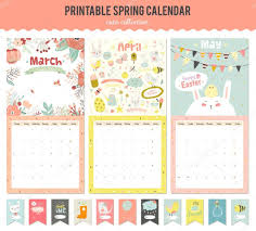 cute calendar template for 2016 u2014 stock vector one7thlifetime