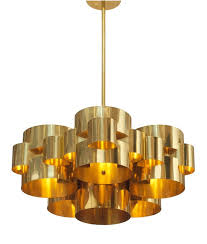 Cloud Chandelier Pair Of Polished Brass U0027cloud U0027 Form Chandelier By Curtis Jere For