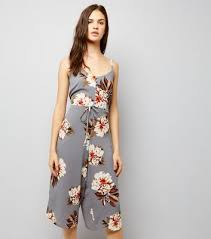 cameo clothing cameo light grey floral print jumpsuit new look
