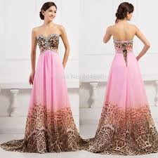 karin women leopard pattern prom dress chiffon long evening