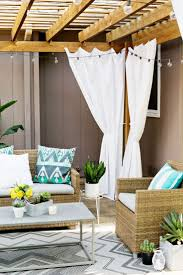 Sunbrella Outdoor Curtain Panels by Outdoor Privacy And Decor Pergola Curtains U2014 Boyslashfriend Com