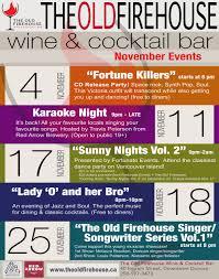 events u2014 the old firehouse wine u0026 cocktail bar
