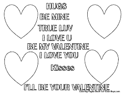 printable valentine cards to color home plans
