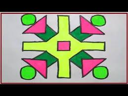 rangoli patterns using mathematical shapes simple square and round shape 8 to 8 dots rangoli design by rangoli