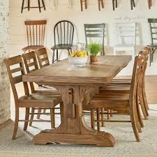 magnolia home magnolia home by joanna gaines farmhouse seven piece trestle table