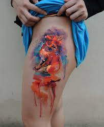 amazing watercolor tattoos by a czech artist that only does one