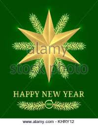 happy green color happy new year 2018 vector greeting card brochure or poster