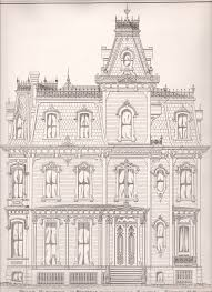 plate no 4 front elevation of residence prepared for execution