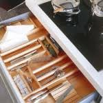 cool modern kitchen drawers and practical organization in the