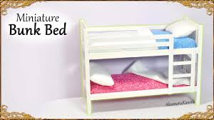 cute miniature bunk bed doll tutorial youtube