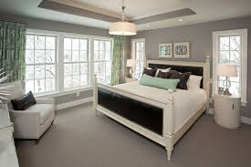 benjamin moore stonington gray for a beach style bedroom with a