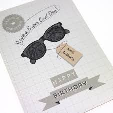 Design And Print Birthday Cards Mens Printed Birthday Card Retro Vintage Hipster Tag Sunglasses
