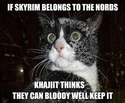Khajiit Meme - only the best khajiit memes for a lazy saturday gallery ebaum s