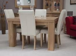 dining room adorable high gloss natural finish oak wood dining