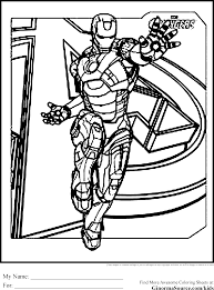 avengers coloring pages iron man ginormasource kids