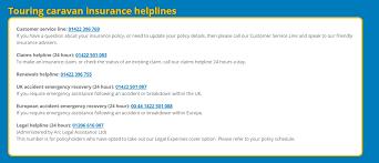 caravan guard touring caravan insurance claims number 0142 250 1083