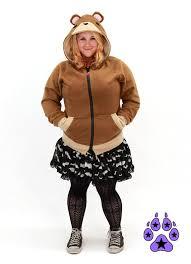 Halloween Costumes Teddy Bear Pawstar Teddy Bear Hoodie Jacket Costume Cosplay Lain Brown