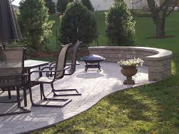 Concrete Patio Tables And Benches Images About Concrete And Resurfacing Backyard With Round Table