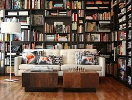 modern home library beautiful modern home library design l sofa pillows clock id795