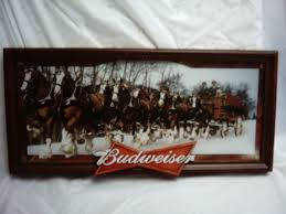 budweiser clydesdale panorama ebay dream home decor bar