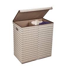 double laundry hamper with lid amazon com household essentials 5626 1 double hamper laundry