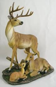 home interiors deer picture deer figurine ebay