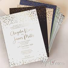 Wedding Invitation Empty Cards Amazing Beautiful Gold Foil Confetti Elegant Wedding Invitation