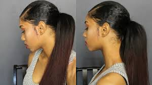 weave ponytails how to sleek ponytail with weave