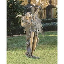 design toscano rhiannon the archer garden statue hayneedle