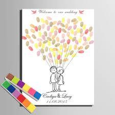 wedding gift hong kong personalized fingerprint signature canvas lover s balloons wedding